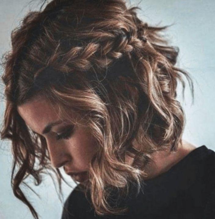Frisuren Halflang Festliche Frisuren Flechtfrisur Stuttfrisur Festliche Braids For Medium Length Hair Medium Length Hair Styles Braids For Short Hair