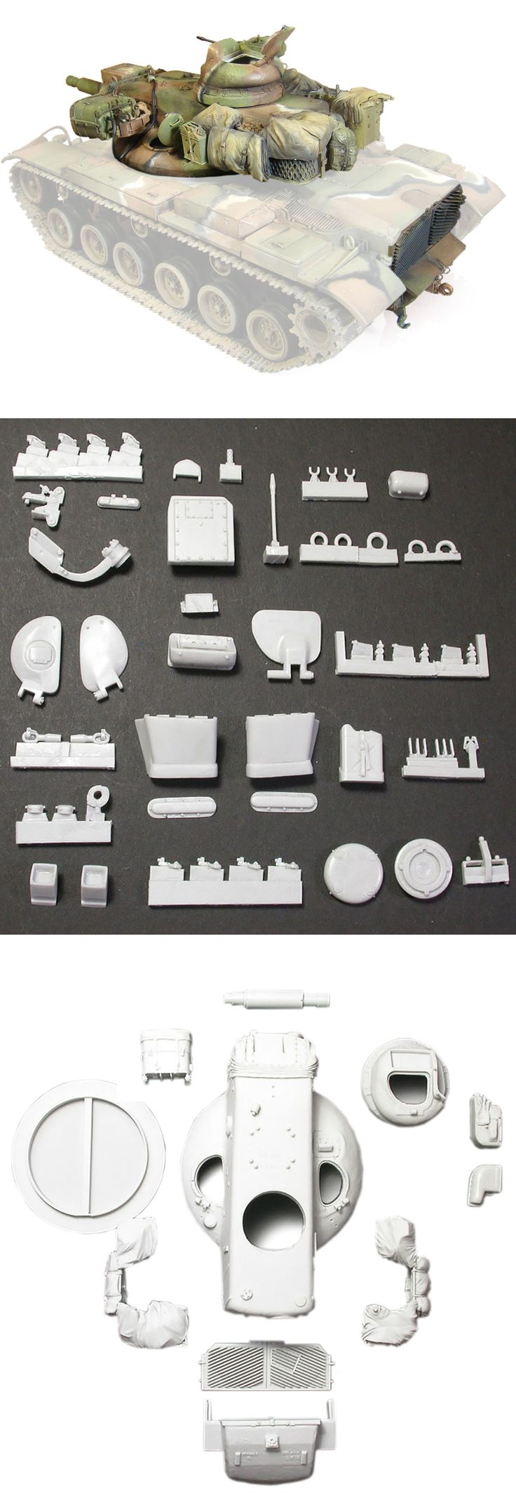 1/35 resincast model U.S. M60A2 Turret & Rear Panel Conversion Kit (for Academy, Tamiya, ESCI)