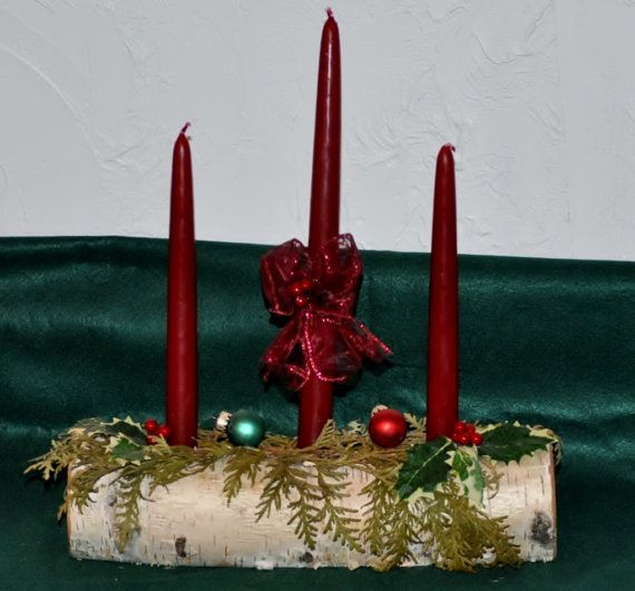Yule tide log candle by daisy on etsy christmas