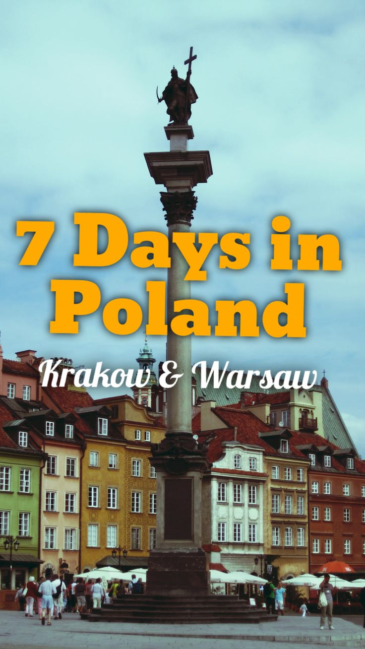 The ultimate 7 day itinerary for Poland featuring Warsaw and Krakow.