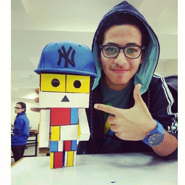 boxman with my #cap #colors