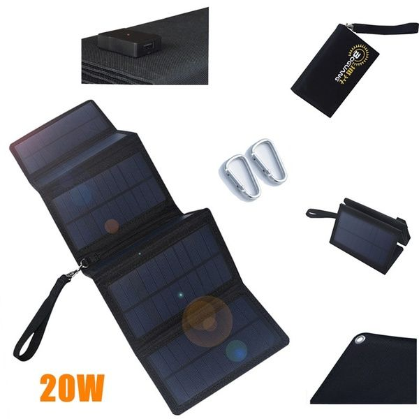 30w 20w 15w 12v 5v Usb Port Waterproof Portable Foldable Solar Panel Charger Power Bank For Outdoor Phone Car Charging Climbing Hiking Camping Na Otkrytom Vozduhe Ryukzak