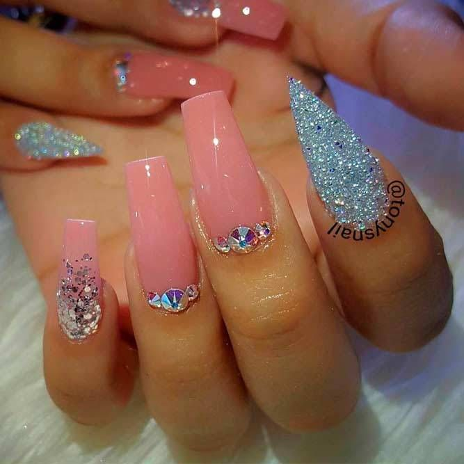 150 Trendy Acrylic Nails Designs 2018 With Images Pink Acrylic