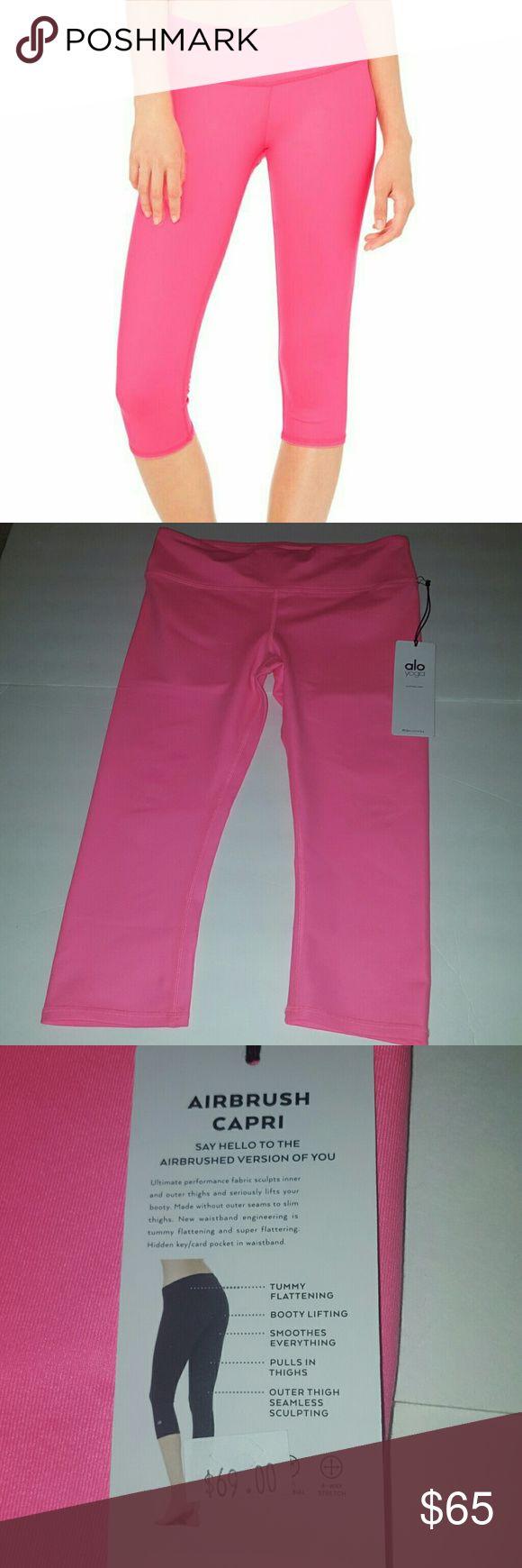 Airbrush Capri NWT Medium hot pink capris ALO Yoga Pants Capris