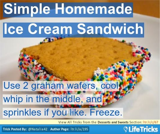 Desserts and Sweets - Simple Homemade Ice Cream Sandwich