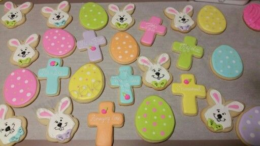 Easter cookies! Thanks to Drawing With Character for her awesome tut. for the bunnies