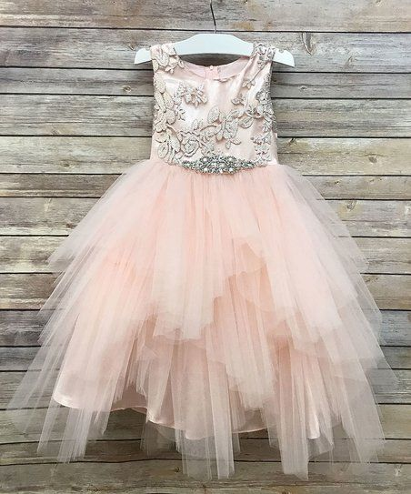 d4a57b8066e Precious Kids Blush Sequin   Beaded Appliqué Luxurios Dress - Toddler    Girls