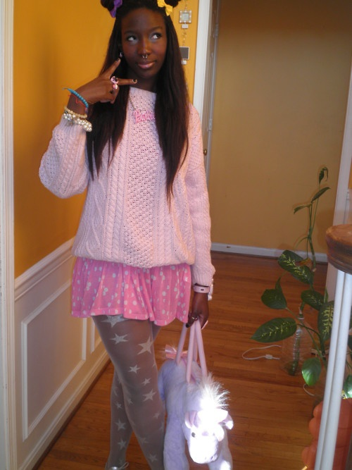 a70ca321d6 yay glad to not be the only african american Fairy Kei  )