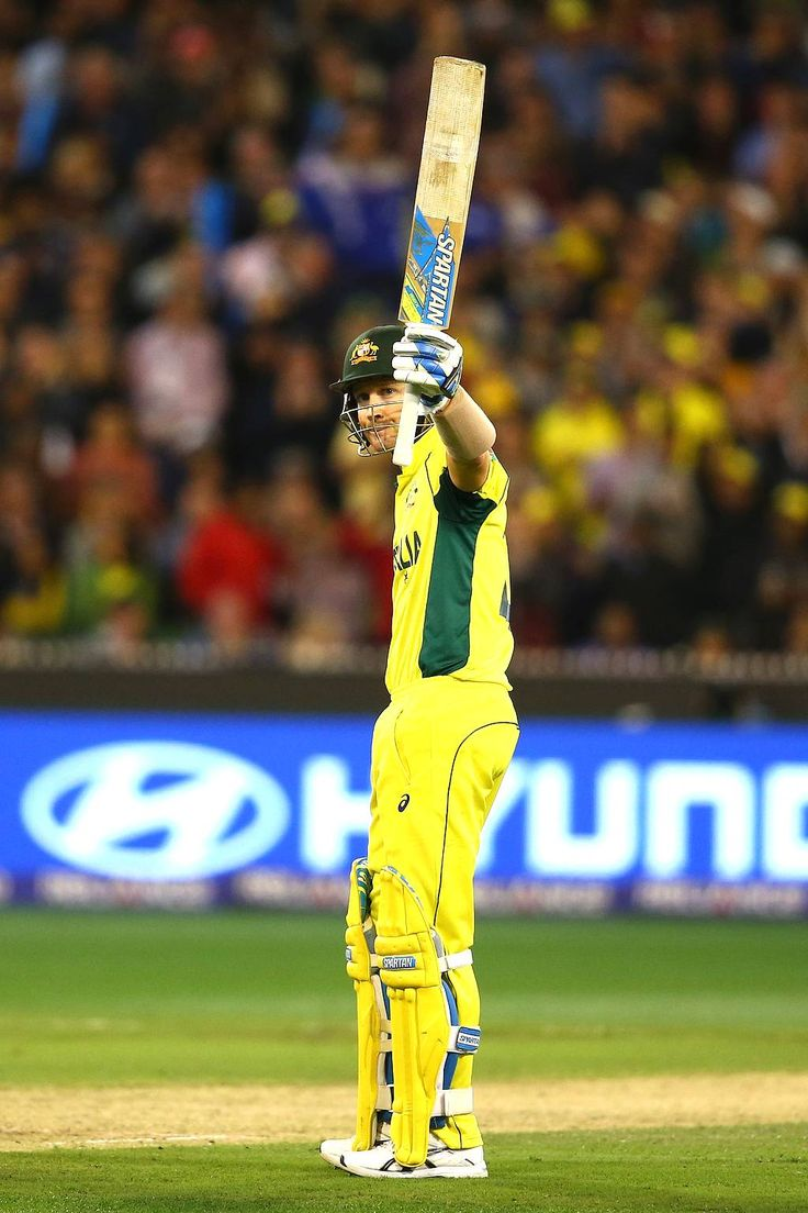 Michael Clarke of Australia celebrates after reaching his half century during the 2015 ICC Cricket World Cup final match between Australia and New Zealand at Melbourne Cricket Ground on March 29, 2015 in Melbourne, Australia.