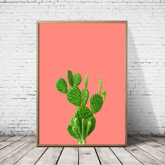 Mexicaanse Cactus afdrukken downloaden van kunst aan de muur