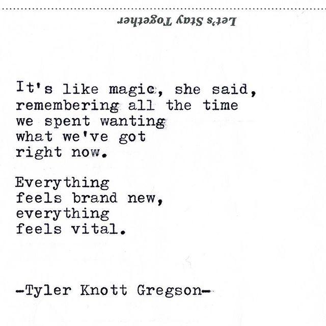 Typewriter Series #2133 by Tyler Knott Gregson