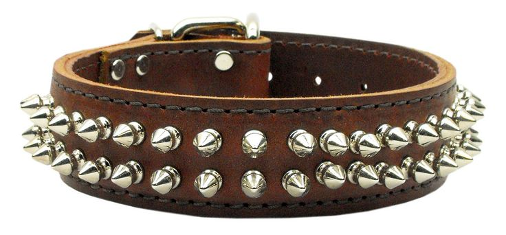 Mirage - Menace Leather Spiked Dog Collars