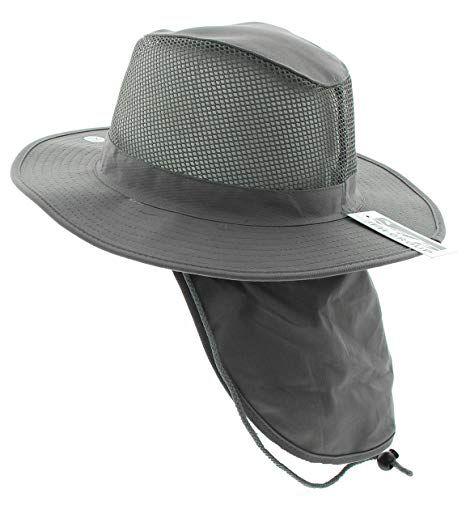 f2496d4a4b92dc JFH Wide Brim Bora Booney Outdoor Safari Summer Hat w/Neck Flap & Sun  Protection at Amazon Men's Clothing store: