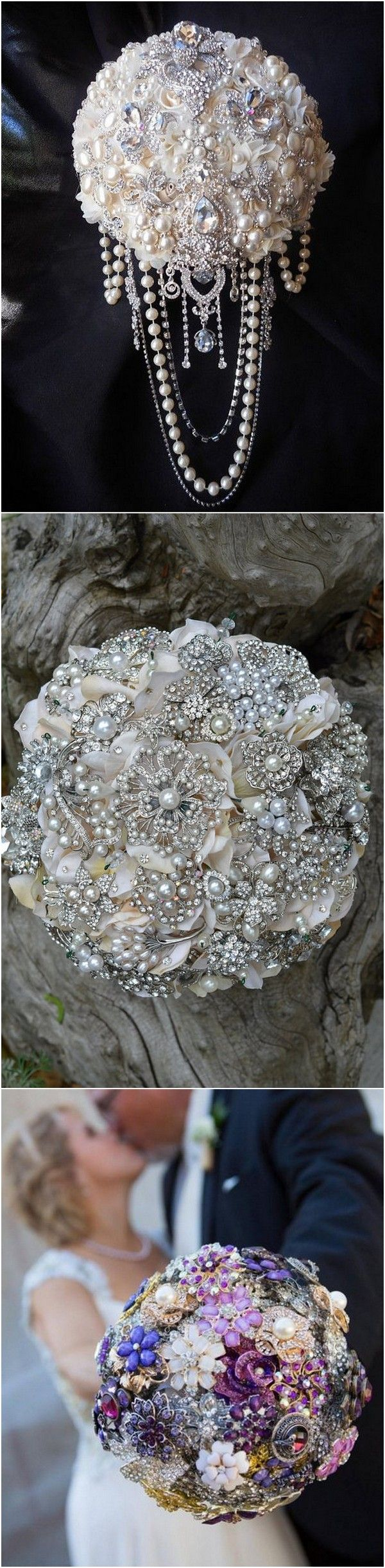 Vintage wedding brooch bouquet ideas for 2018