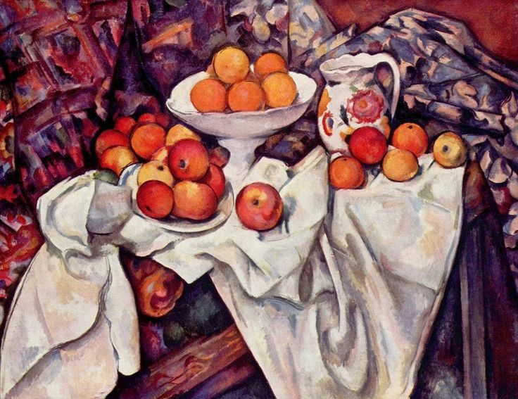 CÉZANNE, Paul French Post-Impressionist (1839-1906)_Still Life with Apples and Oranges, 1895