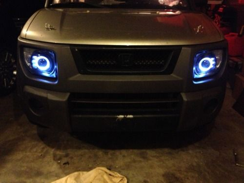 Honda Element Halo Projector Headlights Black