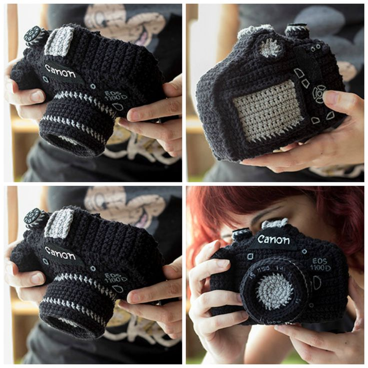 Amigurumi Reflex Camera - Get The Pattern, Make a Unique Gift! So cool! #etsy #amigurumi #giftideas #crochet