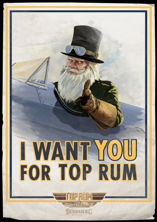 """Bundaberg Rum """"Top Rum"""" Poster"""