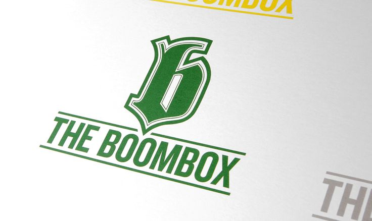 The Boombox  /Logo Design for hip-hop shop
