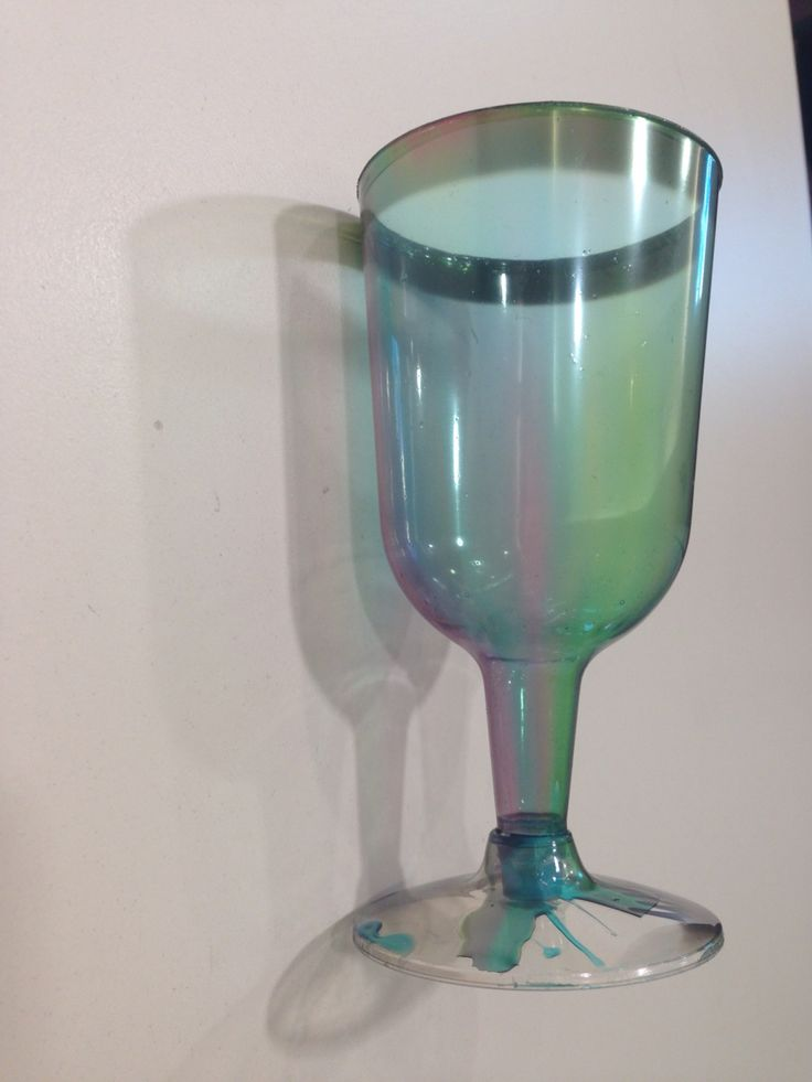 Kiddush cup. Using pva glue mixed with food dye to paint it.