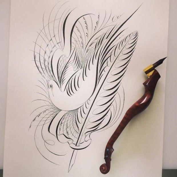 Master Penman Jake Weidmann   Jake Weidmann, master penman - Journal du Design