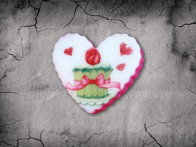 Heart Decoupage soap