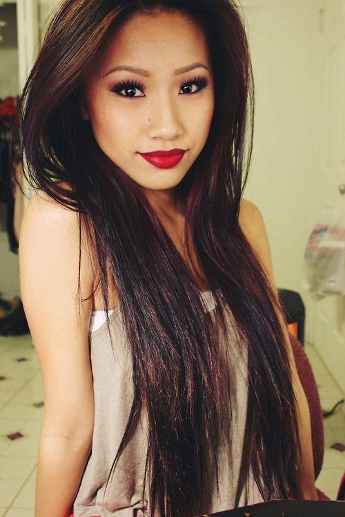 Stunning Filipina Babe With Sexy Lips And Super Long Hair Filipinalips Sexypinay  -1822