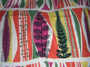 "Vintage 1950s Romanex de Boussac ""Vallauris"" curtain fabric"