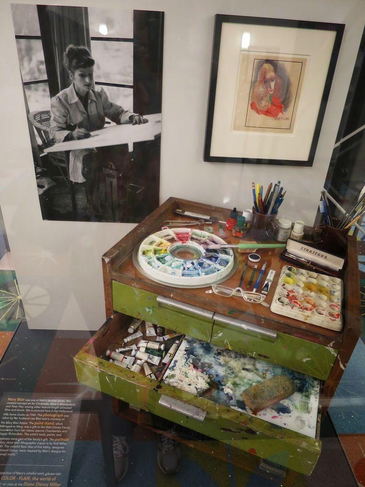 Mary Blair's work table - Disney Family museum
