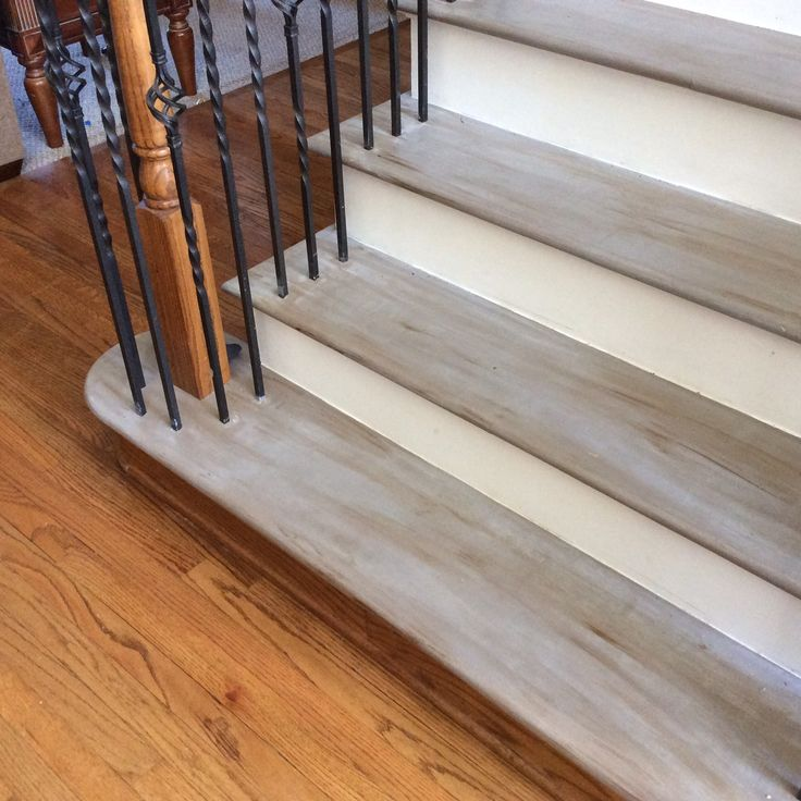 25 best ideas about painted stairs on pinterest - Painting wooden stairs white ...