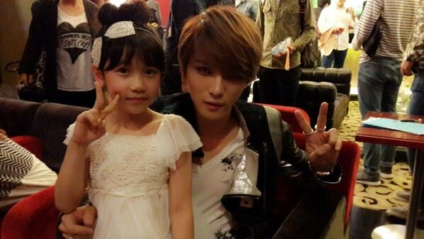 with child actress
