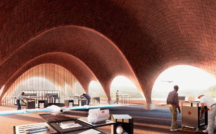 norman foster and partners droneport project rwanda africa designboom