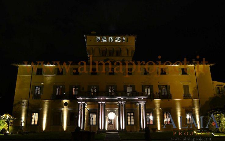 ALMA Project @ Villa di Maiano - Facade - Lighting pinspot