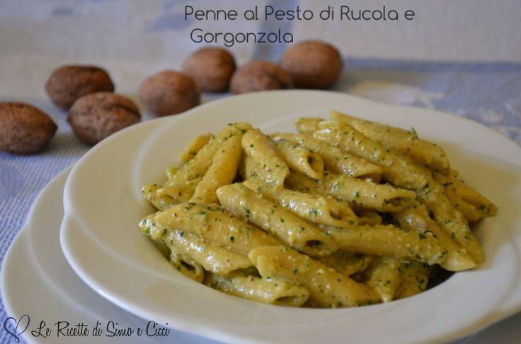 Penne+al+Pesto+di+Rucola+e+Gorgonzola