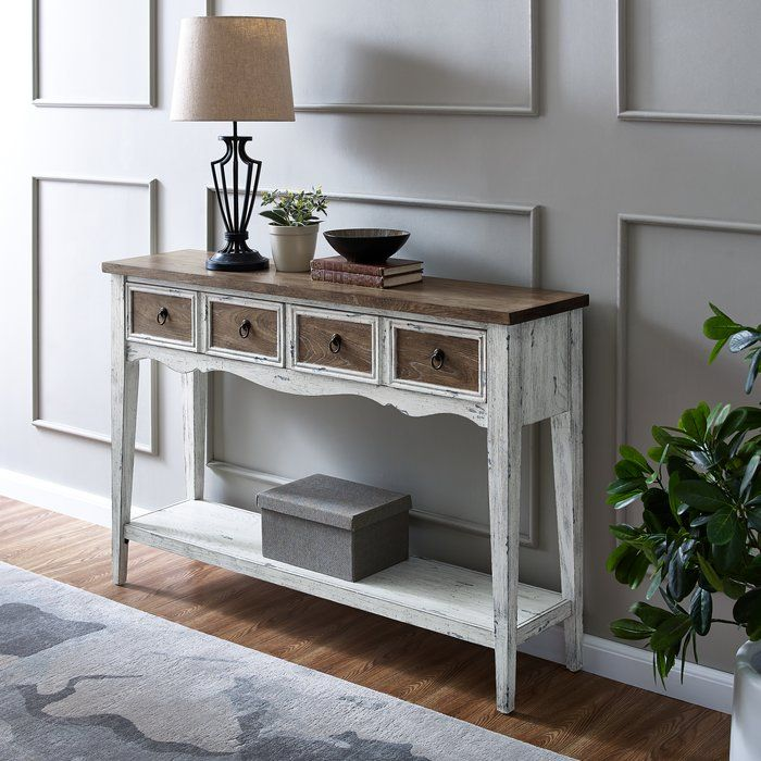 Lula 48 Console Table Farmhouse Console Table Wood Console Table Console Table