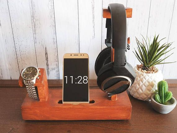 Docking Station For Phone Watch And Headphone Fathers Day Gift