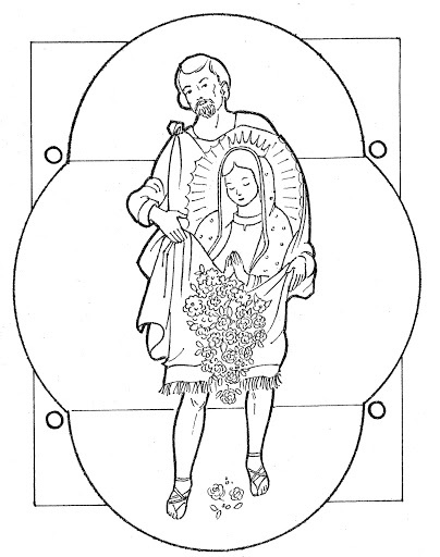 fun coloring pages juan diego and the virgin of guadalupe free coloring page