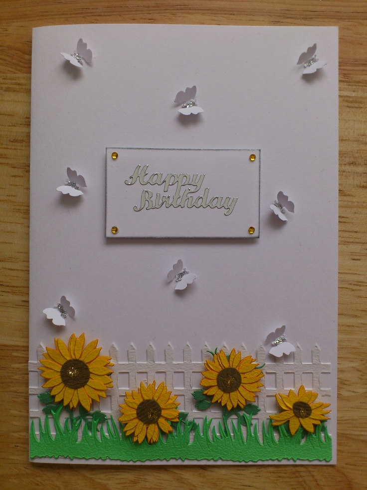 """£1.30  Postage 80p (to UK)    Handmade birthday card on a white card with envelope. (6""""x4"""")     The inside is left blank for your own message.     50p from the sale of this card goes to 'Let's do it ME' campaign.     For more cards visit my page... https://www.facebook.com/puresunrayscards"""