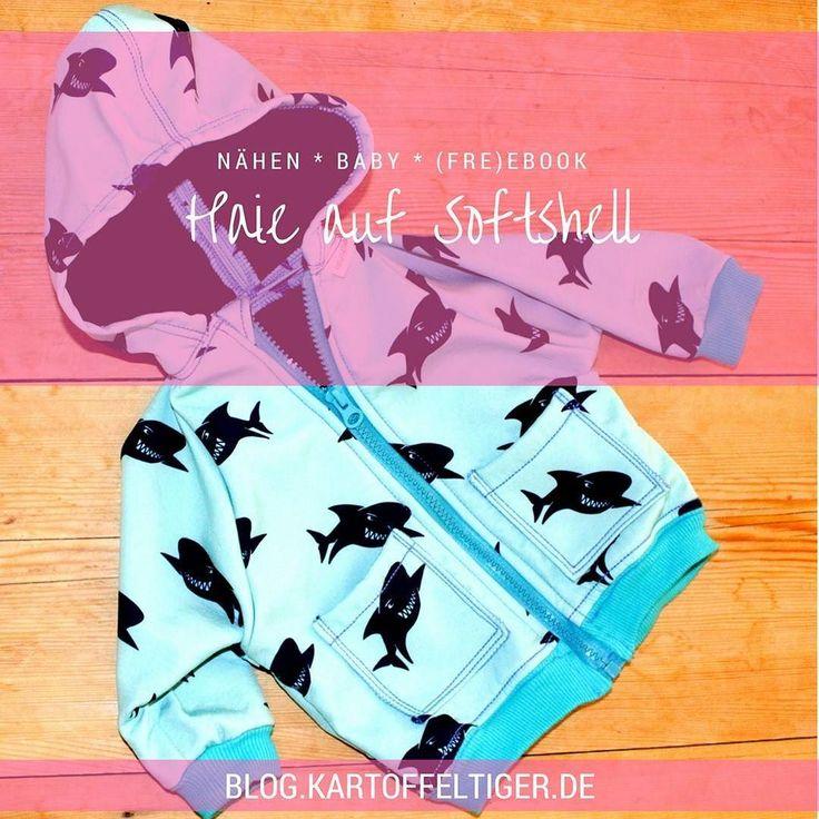 Beautiful  N hen f rs Baby Haie auf Softshell Freebook Vorstellung SchnullerRockers heute gibt es ein neues Teil aus Schnullertiger us Kleiderschrank und