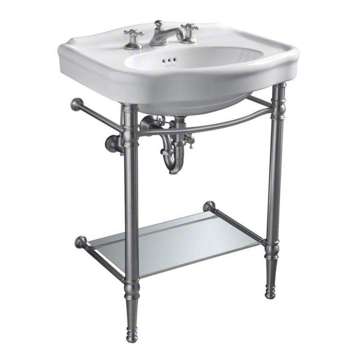 cellar powder room sink base kallista janeway console table legs with rack for shelf in antique bronze
