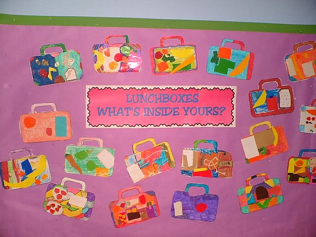 What is inside your lunchbox? - a great display idea for a healthy eating/food topic.