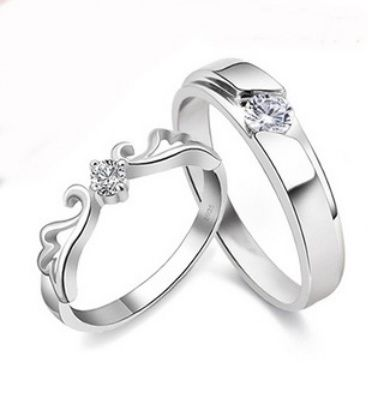 Tiara of Dreams Couple Ring / Engagement Ring / Wedding Band - Material: 925 sterling silver + finest grade of cubic zirconia - Female Ring Size: US 5 - 8 - Male Ring Size: US 7 - 11 - Price: $48 free worldwide shipping