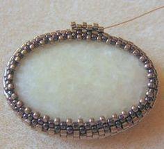 ciondolo perla con la pietra: una master class | perline di tessitura