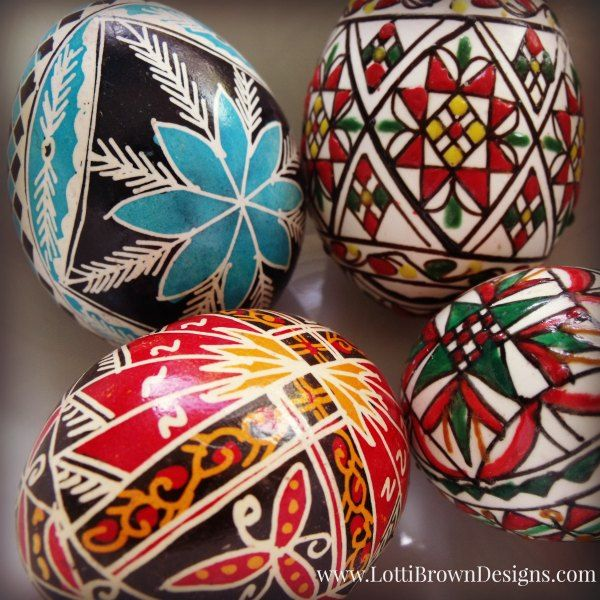 Hand-painted Romanian eggs