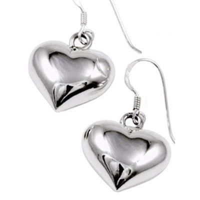 Jewellery :: .925 Silver :: Silver heart earrings - $47