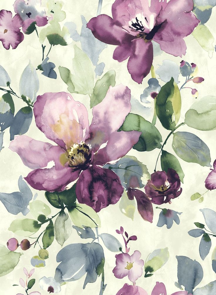 Painted watercolour florals inspired Sainsbury's In Bloom collection.