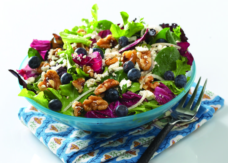 Blueberries are a sweet surprise in this refreshing salad. Add grilled ...