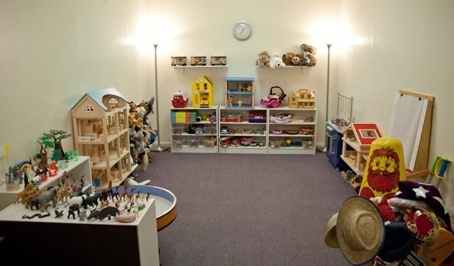 open but full play therapy room