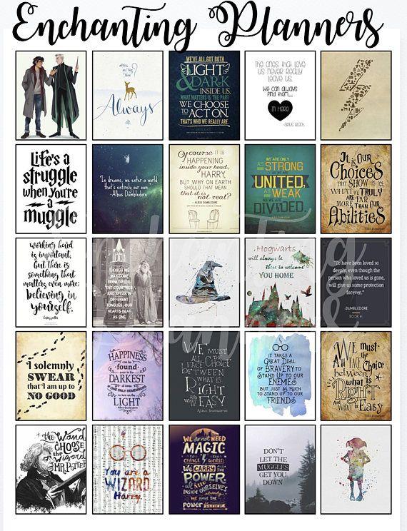 Harry Potter Planner Stickers Big Happy Panner ECLP ...