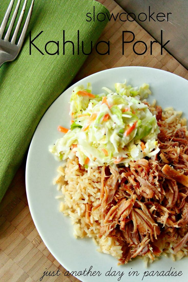 Just Another Day in Paradise: Slow Cooker Kahlua Pork (Slow Cooker Saturday)